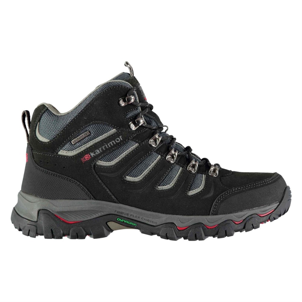 KARRIMOR Men's Mount Mid Waterproof Hiking Boots - BLACK