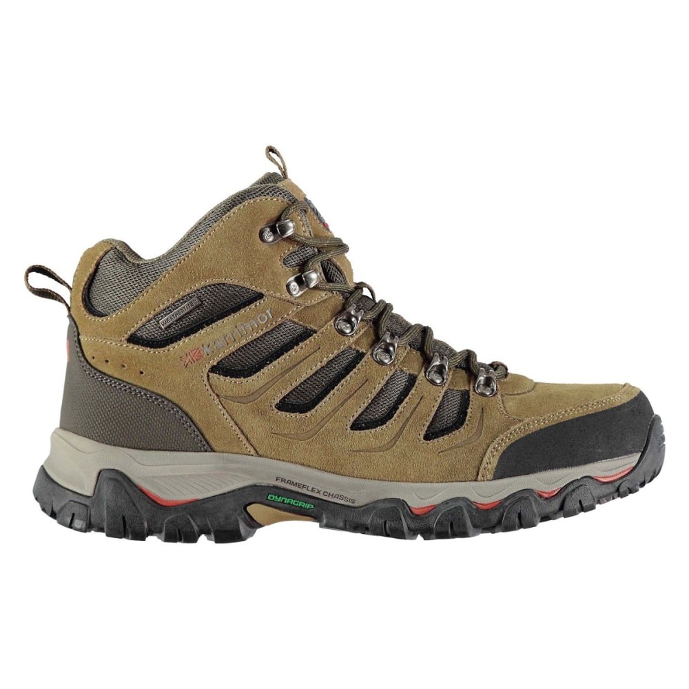KARRIMOR Men's Mount Mid Waterproof Hiking Boots - TAUPE