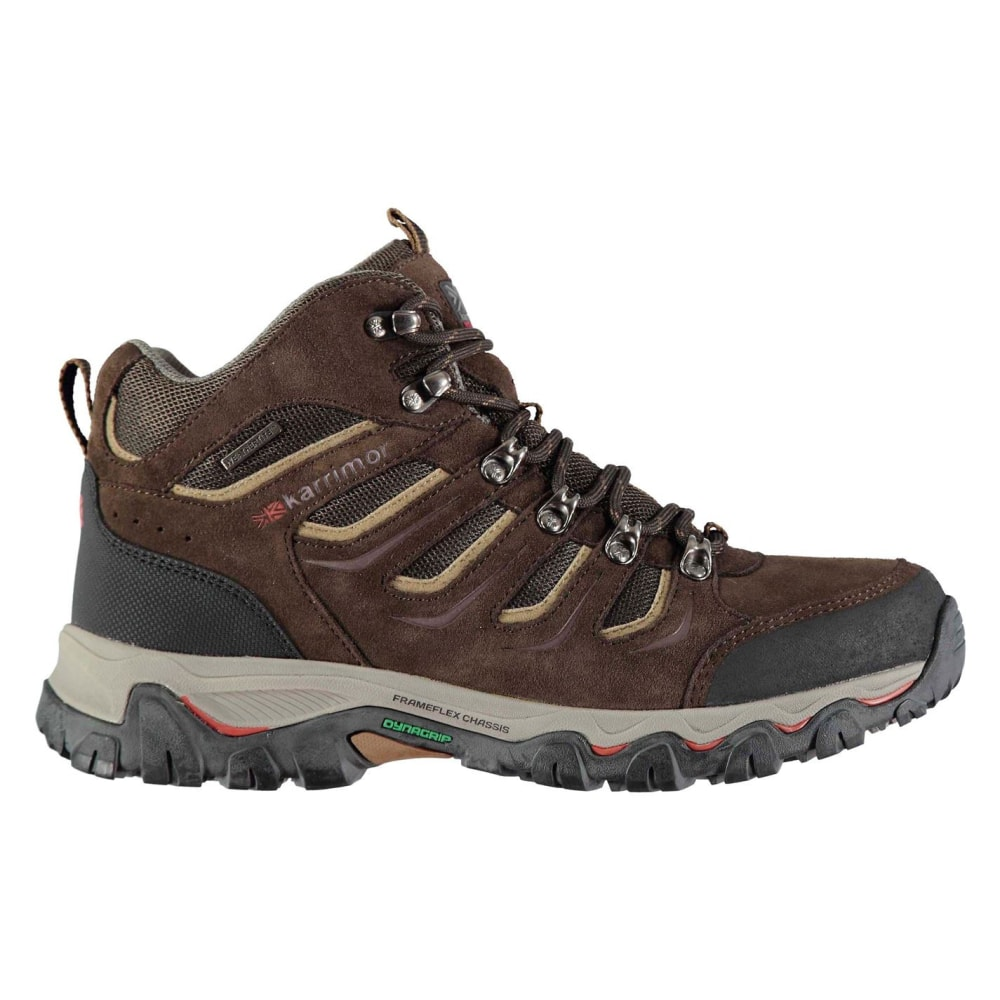 KARRIMOR Men's Mount Mid Waterproof Hiking Boots - BROWN