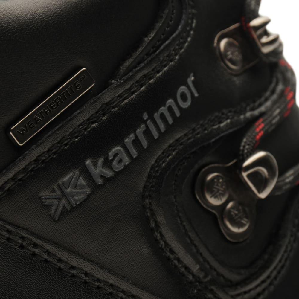 KARRIMOR Big Kids' Skido Waterproof Mid Hiking Boots - BLACK