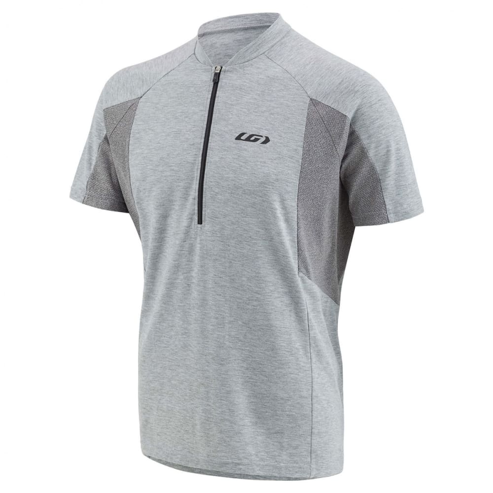 LOUIS GARNEAU Men's Connection Short-Sleeve Cycling Jersey - HEATHER GREY