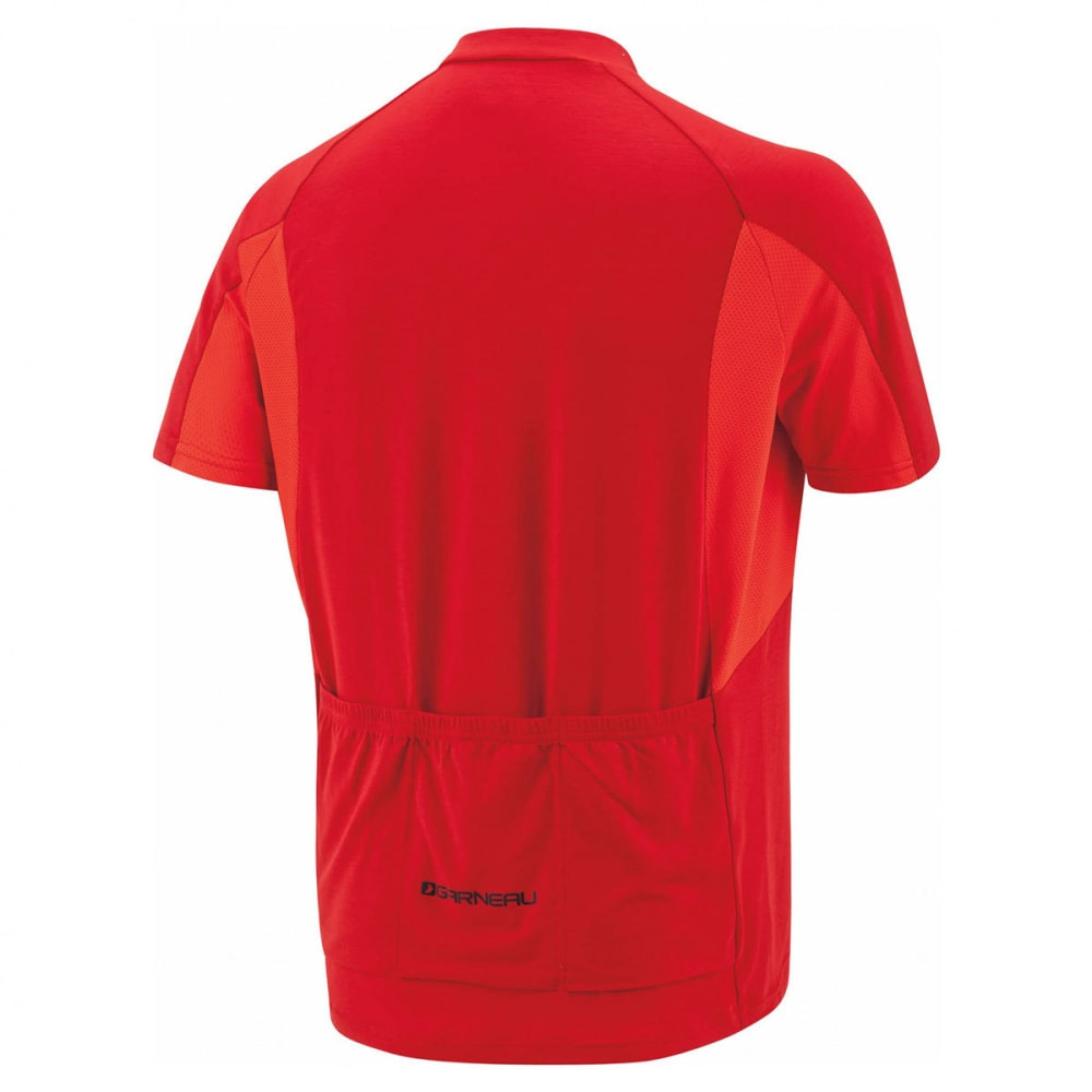 LOUIS GARNEAU Men's Connection Short-Sleeve Cycling Jersey - BARBADOS CHERRY