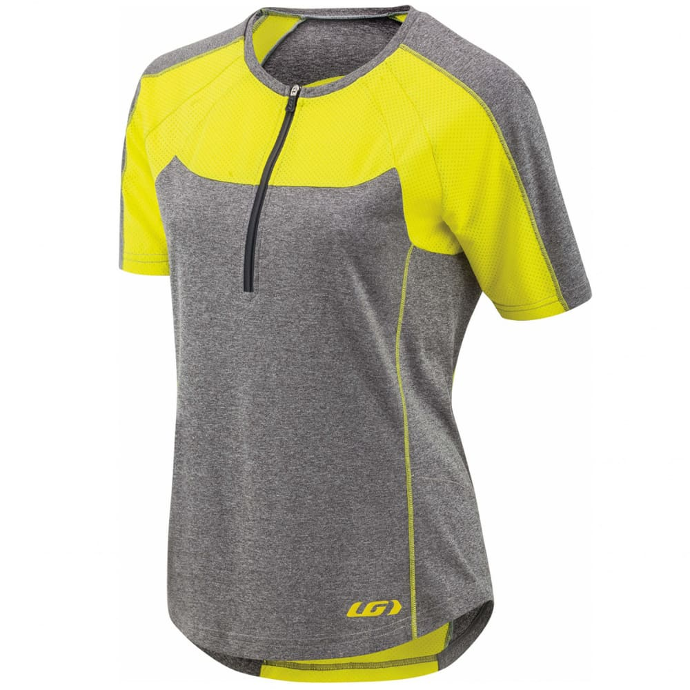 LOUIS GARNEAU Women's Icefit Zip-T Cycling Jersey - GREY/YELLOW