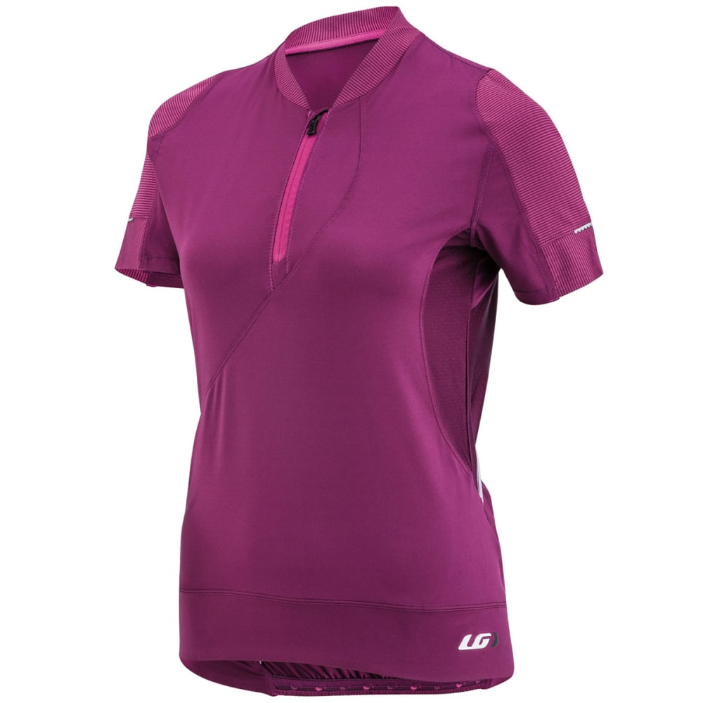 LOUIS GARNEAU Women's Gloria Short-Sleeve Cycling Jersey - MAGENTA PURPLE