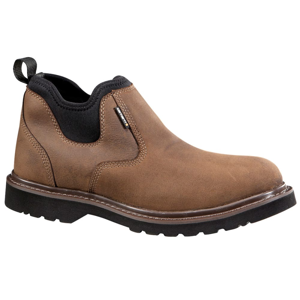 CARHARTT Men's 4-Inch Oxford Non-Safety Toe Pull On Boots - DK BISON OIL TANNED
