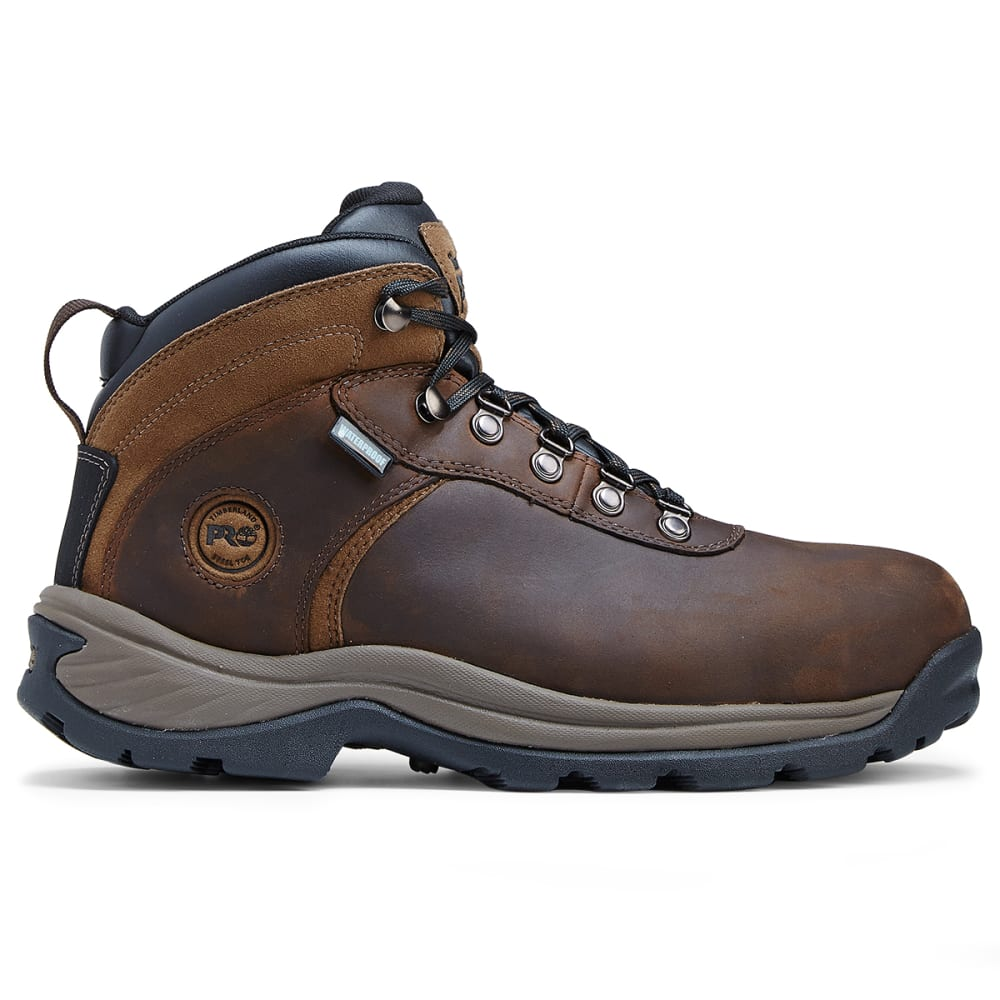 TIMBERLAND PRO Men's 5 in. Flume Hiker Waterproof Steel Toe Work Boots - 214 BRN NUBUCK LTHR