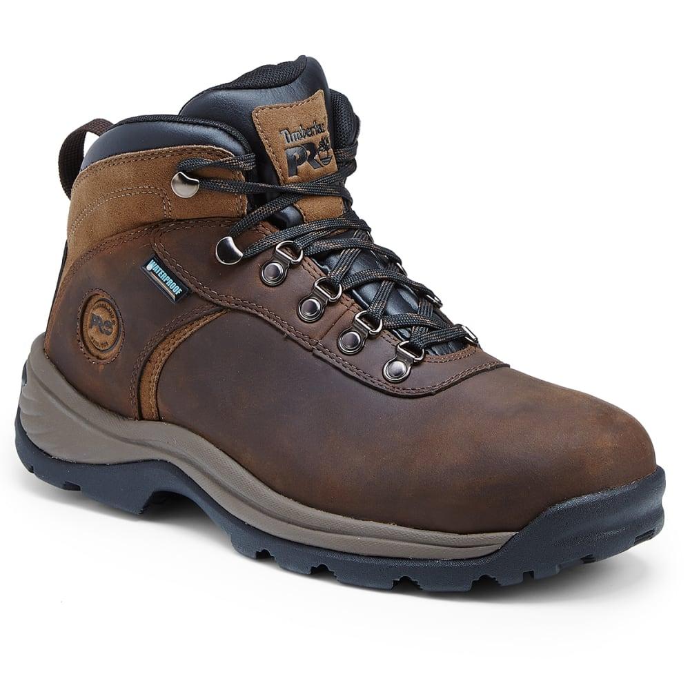 TIMBERLAND PRO Men's 5 in. Flume Hiker Waterproof Steel Toe Work Boots - 214 BRN NUBUCK LTHR