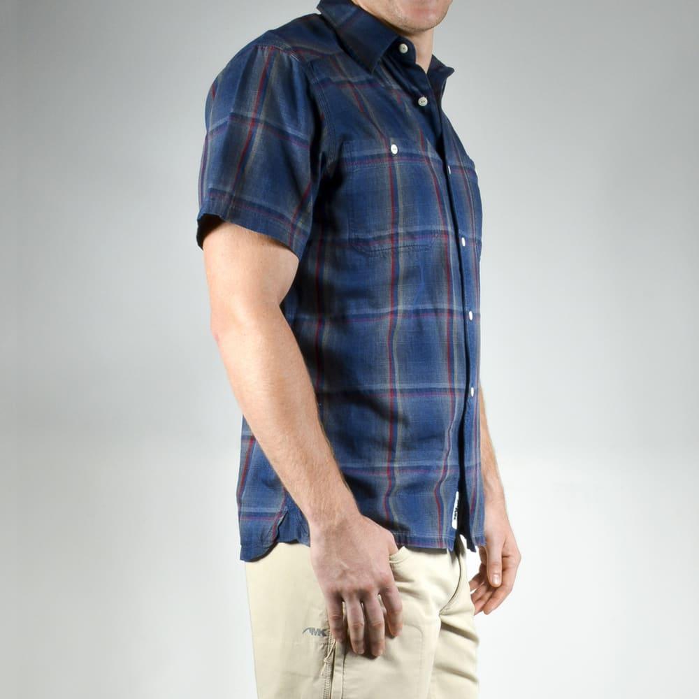 MOUNTAIN KHAKIS Men's Ace Indigo Short-Sleeve Shirt - 498 INDIGO PLAID