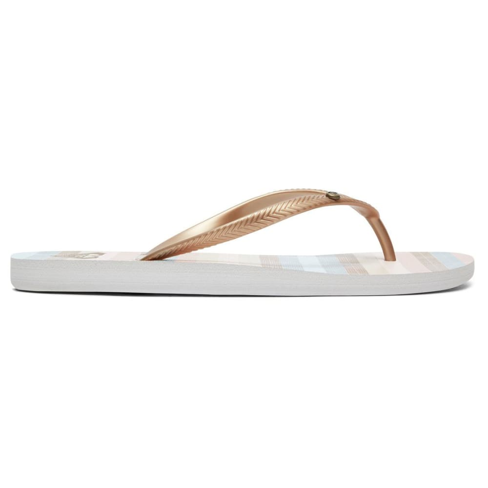ROXY Women's Bermuda Flip Flops - LT GLD-LGD