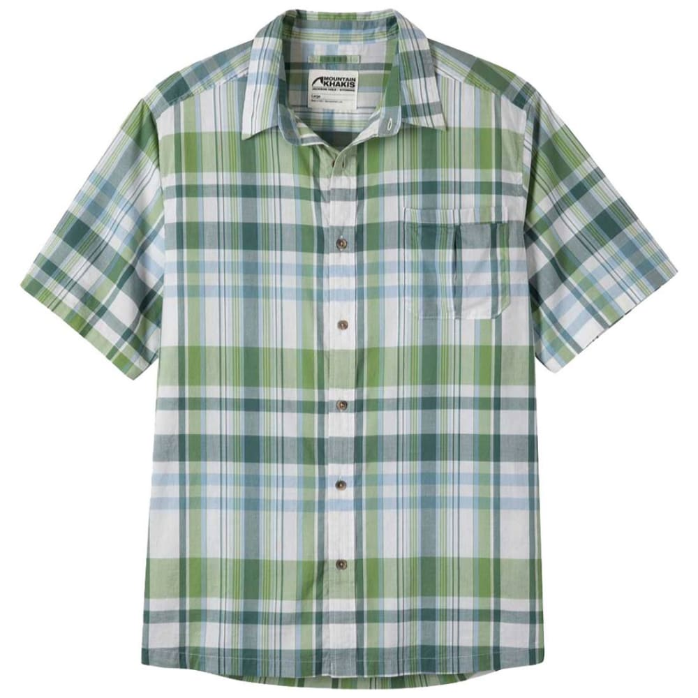 MOUNTAIN KHAKIS Men's Tomahawk Madras Short-Sleeve Shirt - 724 ENVY PLAID