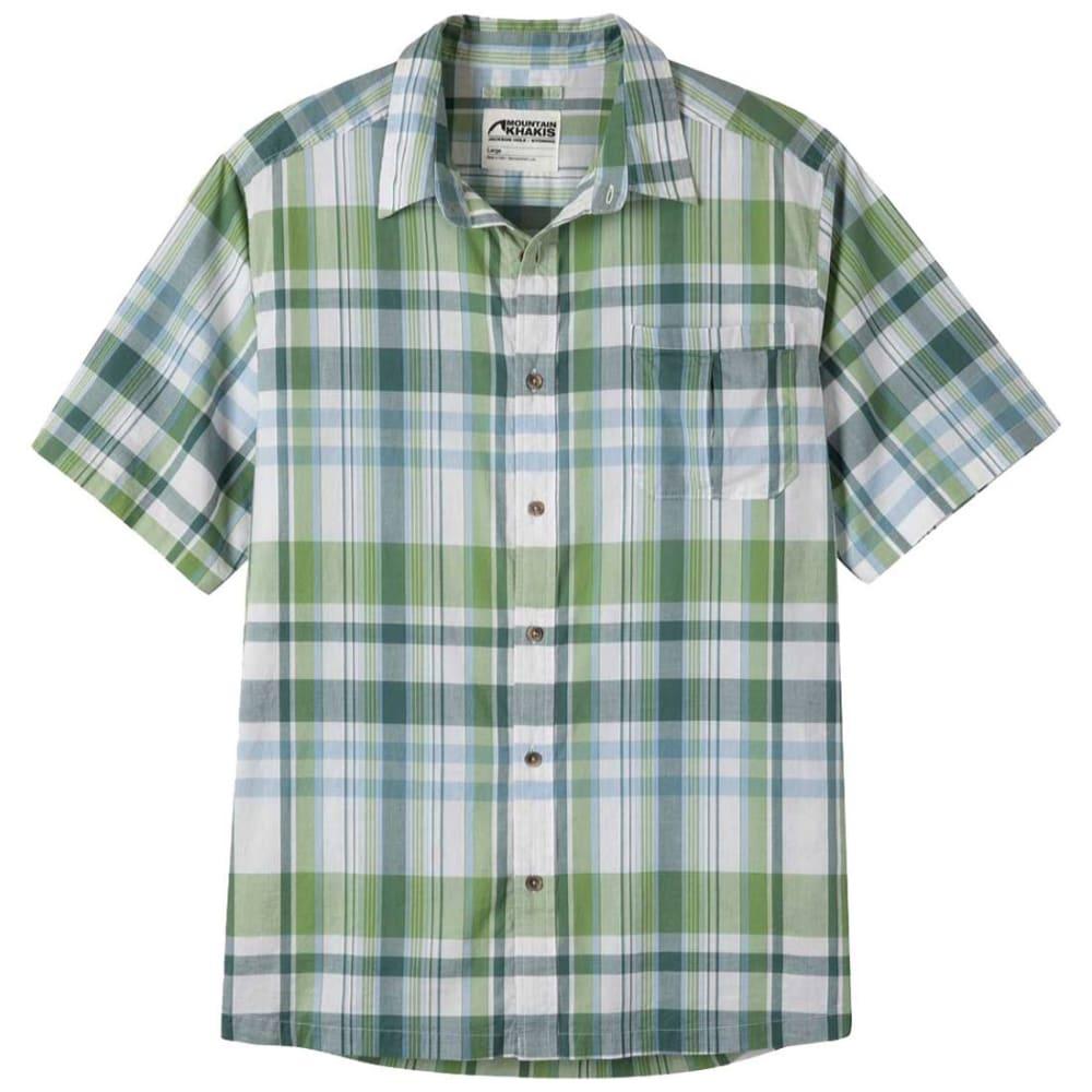 Mountain Khakis Men's Tomahawk Madras Short-Sleeve Shirt – Green – Size L