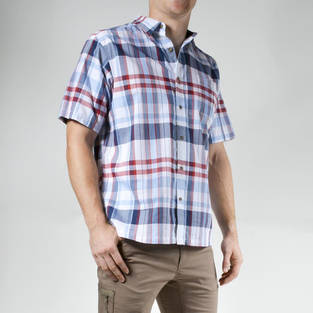 MOUNTAIN KHAKIS Men's Tomahawk Madras Short-Sleeve Shirt - 679 TWILIGHT PLAID