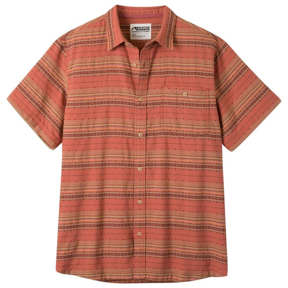 MOUNTAIN KHAKIS Men's Horizon Short-Sleeve Shirt - 583 ROJO