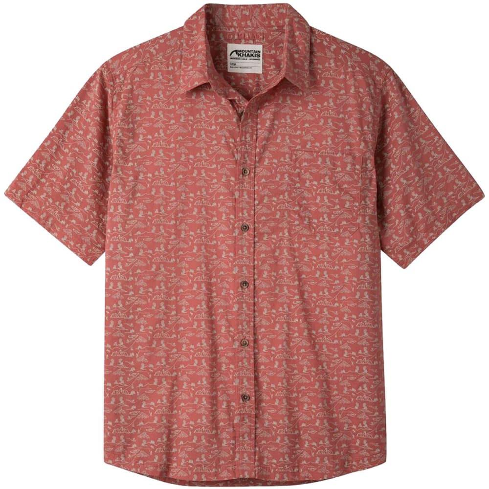 MOUNTAIN KHAKIS Men's Outdoorist Signature Print SS Shirt - 583 ROJO