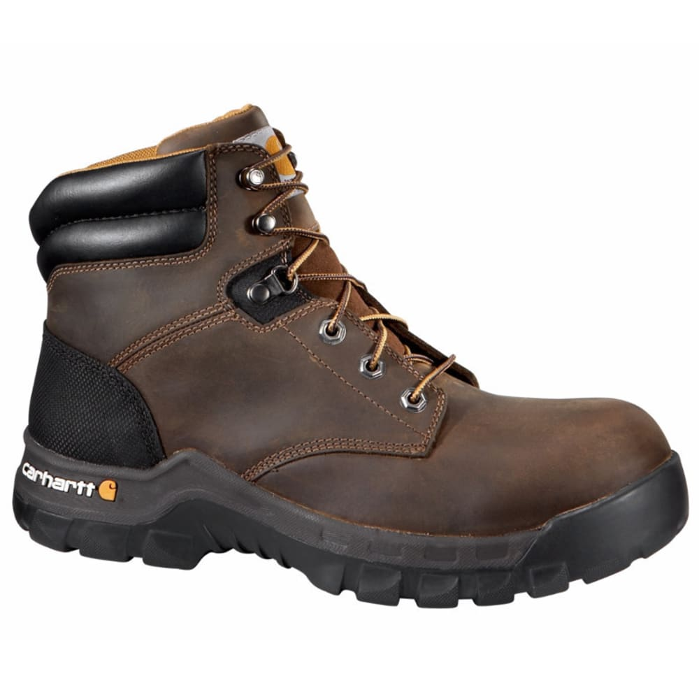 CARHARTT Men's 6-Inch Rugged Flex Non-Safety Toe Work Boots, Brown - BROWN OIL TANNED