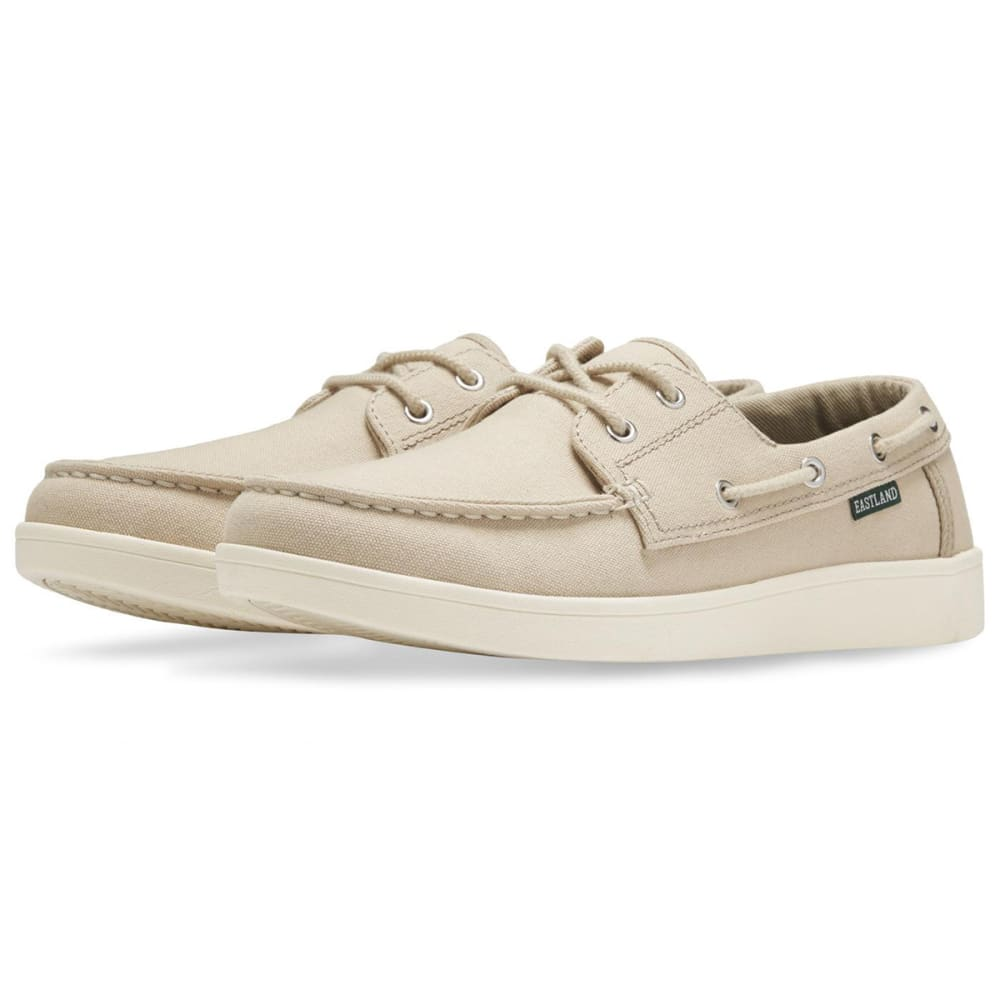 EASTLAND Men's Popham Canvas Boat Shoes - KHAKI CANVAS-08