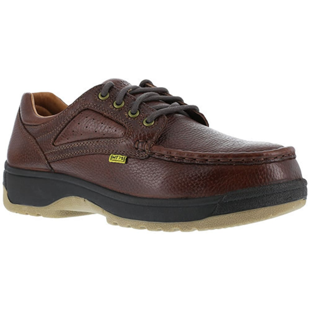 FLORSHEIM WORK Men's Compadre Composite Toe Eurocasual Internal Metatarsal Oxford Shoe, Dark Brown - BROWN