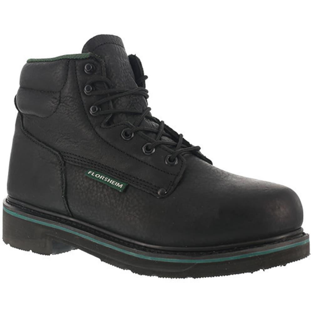 "FLORSHEIM WORK Men's Utility Steel Toe Plain Toe 6"" Classic Boot - BLACK"
