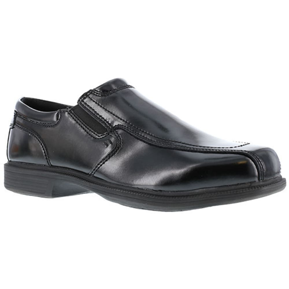 FLORSHEIM WORK Men's Coronis Steel Toe Slip On Oxford Shoe, Black - BLACK