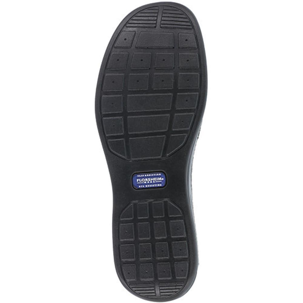 FLORSHEIM WORK Men's Wily Steel Toe Moc Toe Slip On Shoe, Black - BLACK