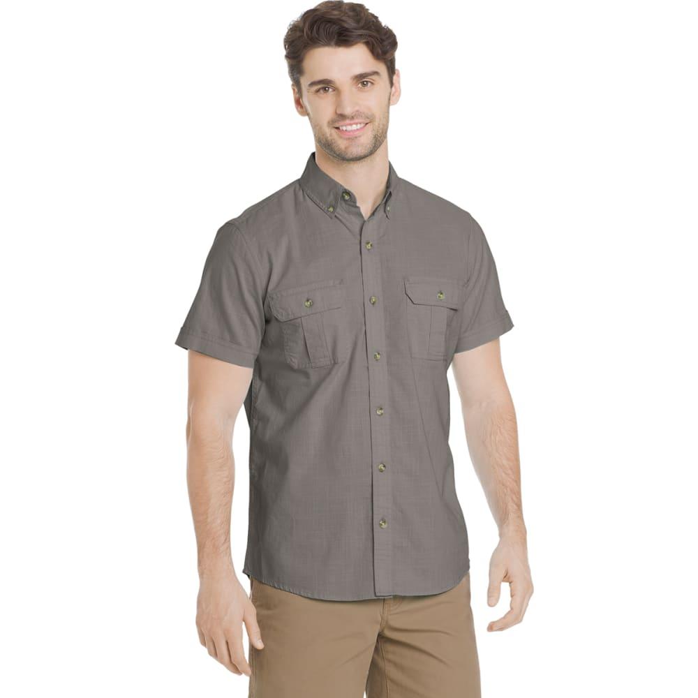G.H. BASS & CO. Men's Salt Cove Pigment Solid Short-Sleeve Shirt - SILVER FILIGREE-045