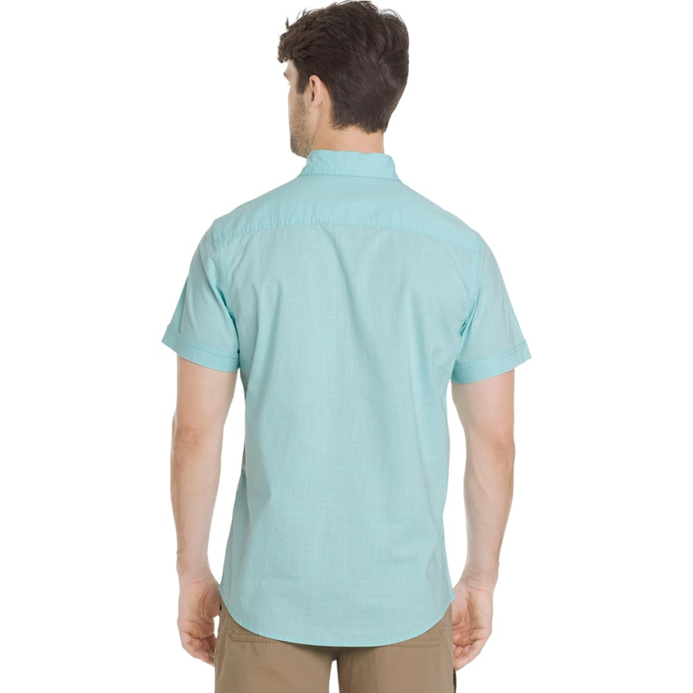 G.H. BASS & CO. Men's Salt Cove Pigment Solid Short-Sleeve Shirt - AQUA SPLASH-489