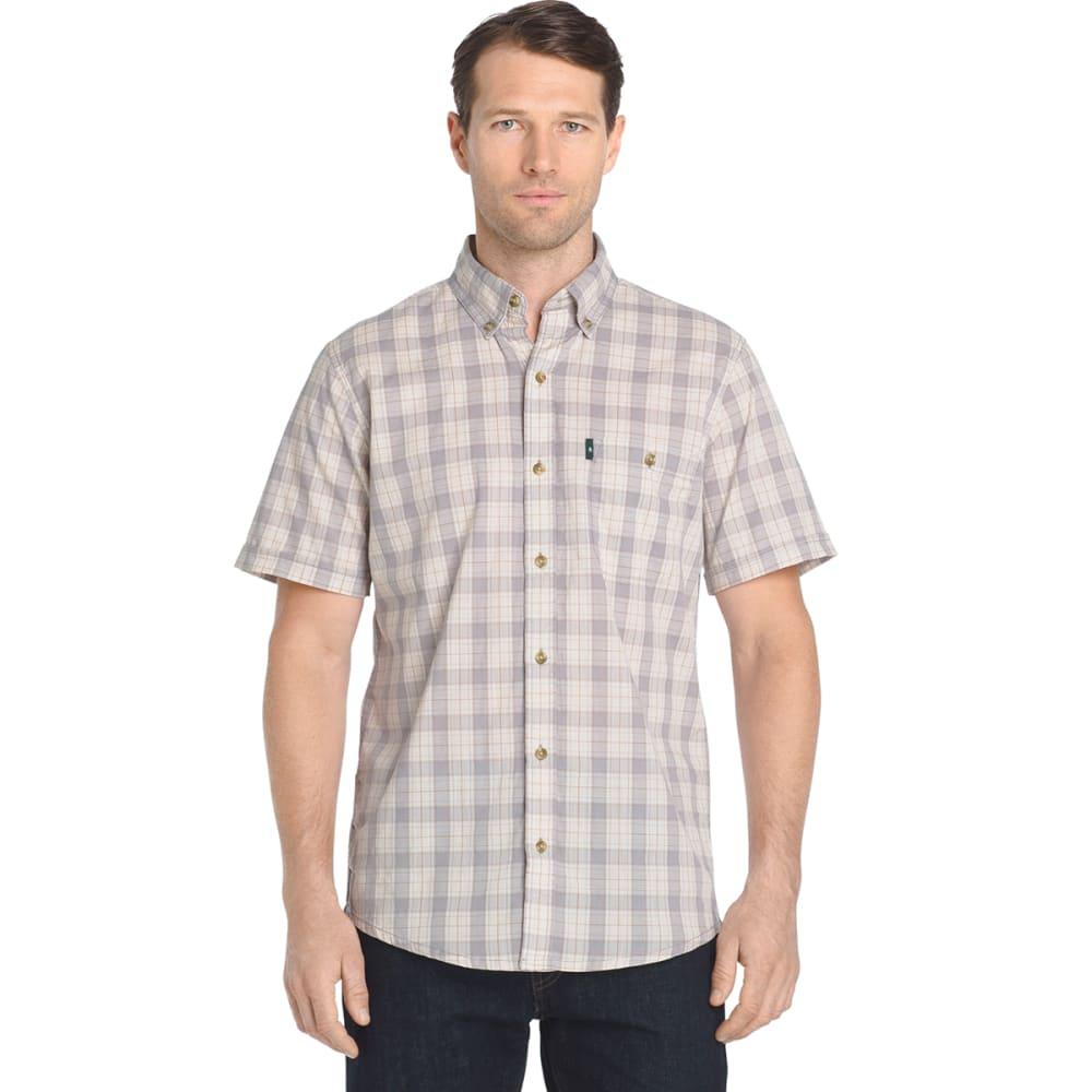 G.H. BASS & CO. Men's Madawaska Textured Short-Sleeve Trail Shirt - ALLOY-048
