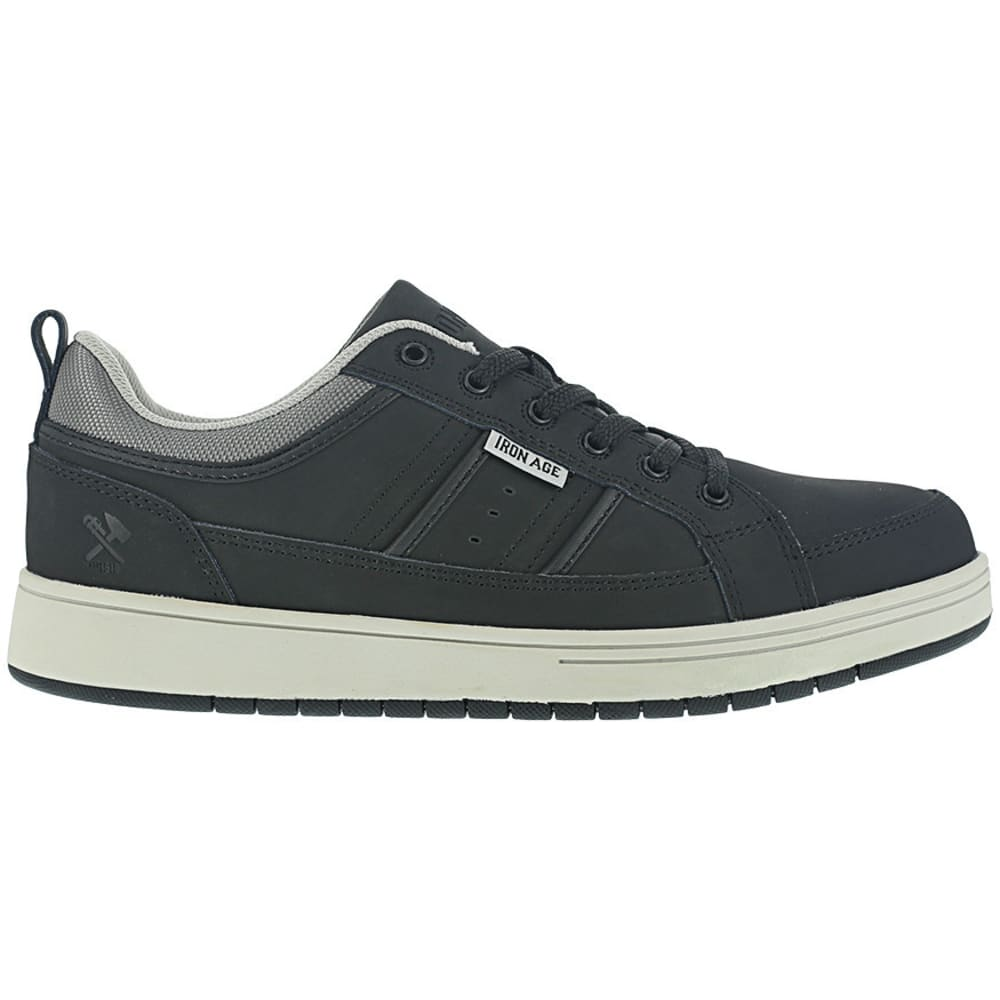 IRON AGE Men's Board Rage Steel Toe Skate Oxford Shoes - BLACK