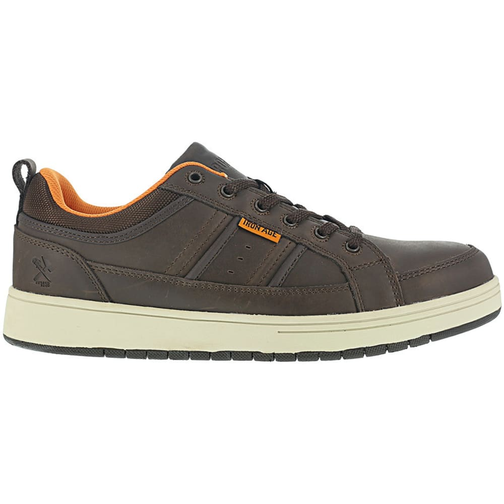 IRON AGE Men's Board Rage Steel Toe Skate Oxford Shoes - BROWN