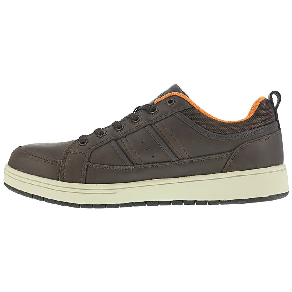 IRON AGE Men's Board Rage Steel Toe Skate Oxford Shoes - BROWN