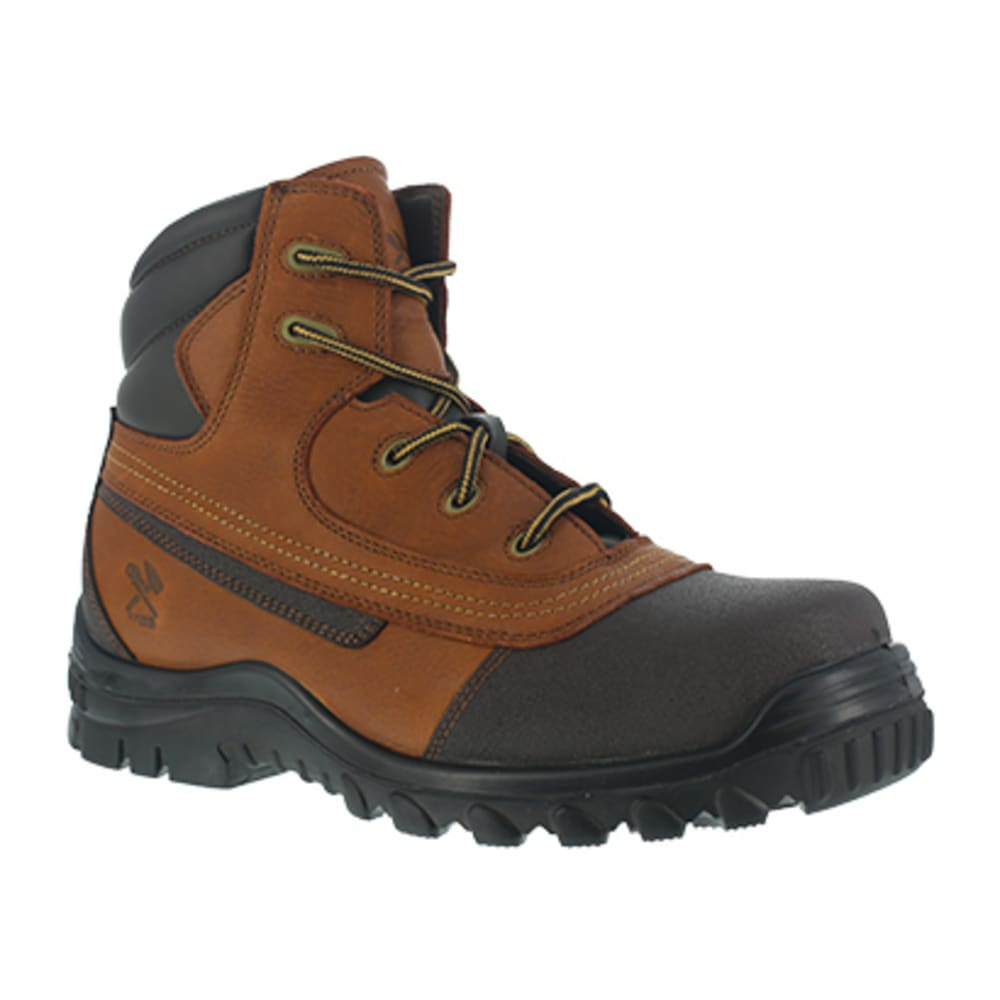 IRON AGE Men's Backstop Steel Toe 6 in. Work Boots - BROWN