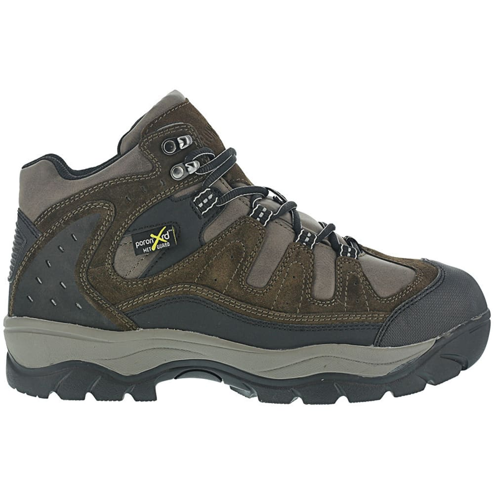 IRON AGE Men's High Ridge Steel Toe Poron XRD Internal Met Guard Sport Hiking Shoes, Brown - BROWN
