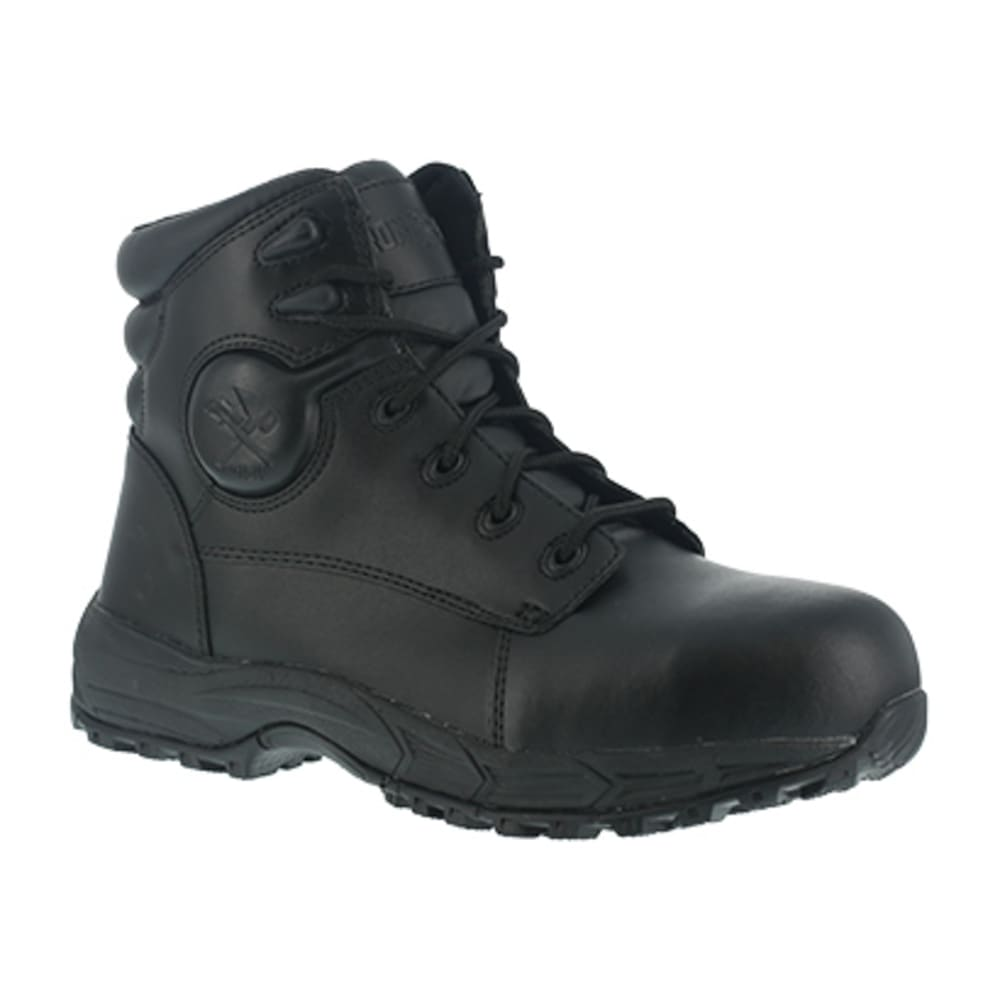 IRON AGE Men's Ground Finish Steel Toe 6 in. Sport Boots, Black - BLACK
