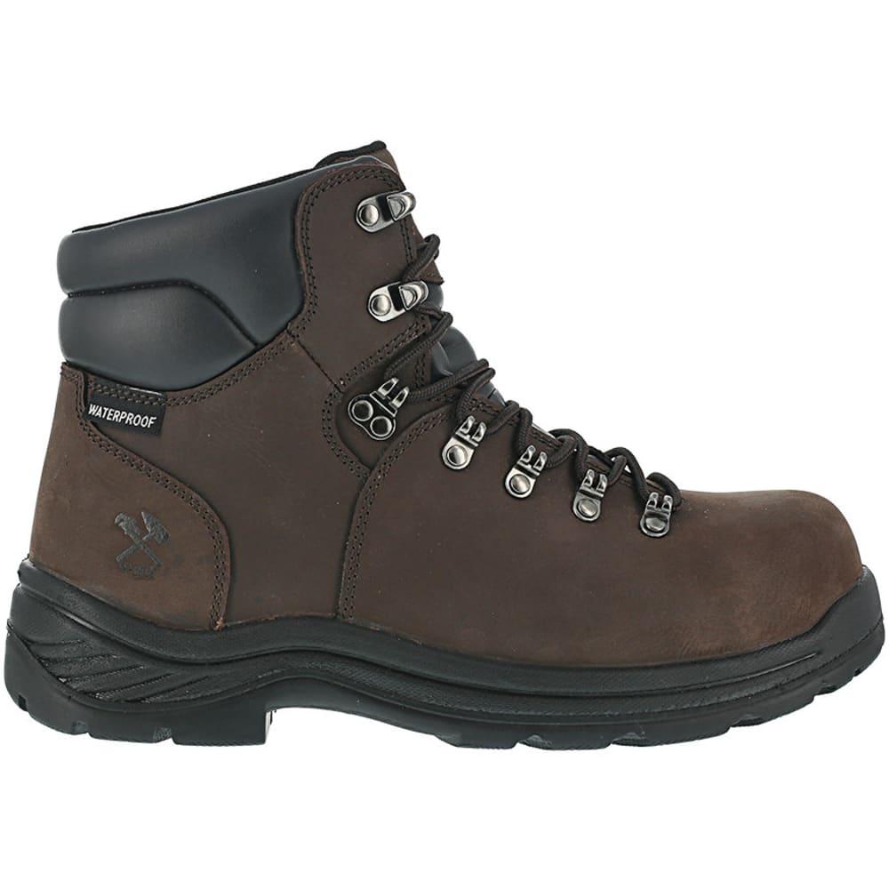 IRON AGE Men's Tiller Composite Toe 6 in. Plain Toe Waterproof Hiking Shoes, Brown - BROWN