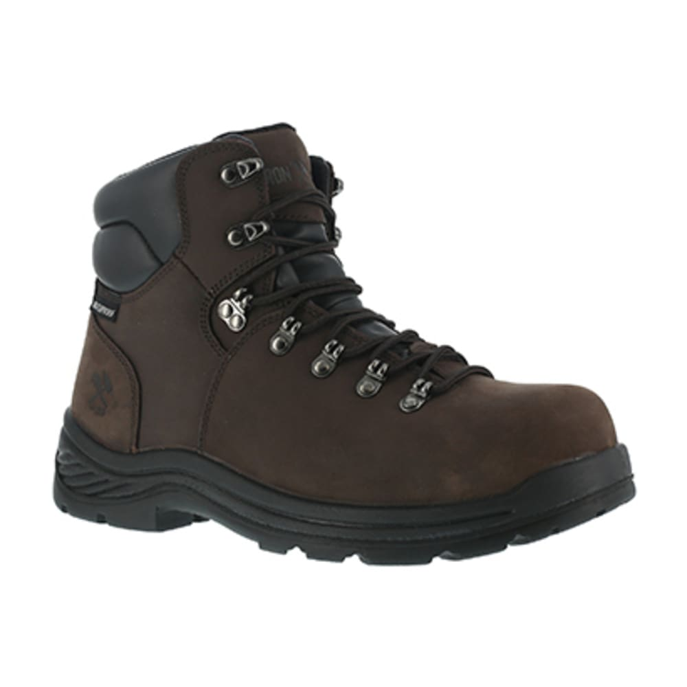 IRON AGE Men's Tiller Composite Toe 6 in. Plain Toe Waterproof Hiking Shoes, Brown 6