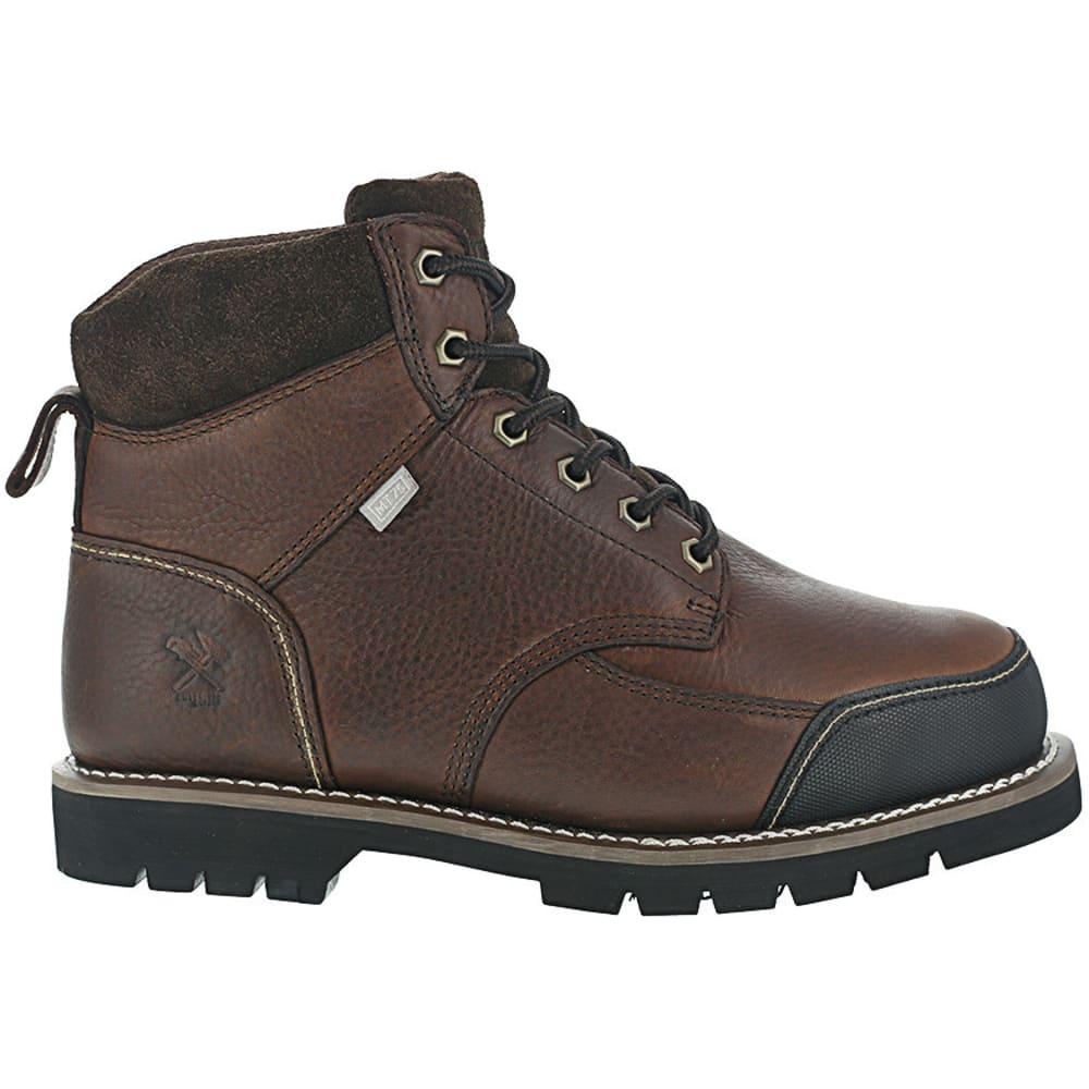 IRON AGE Men's Dozer Steel Toe 6 in. Internal Met Guard Work Boots, Brown - BROWN