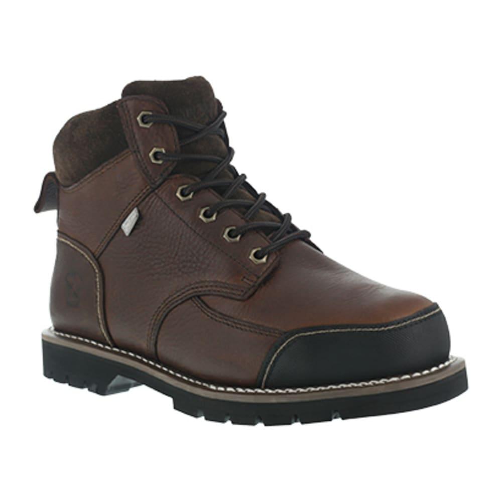 IRON AGE Men's Dozer Steel Toe 6 in. Internal Met Guard Work Boots, Brown 6