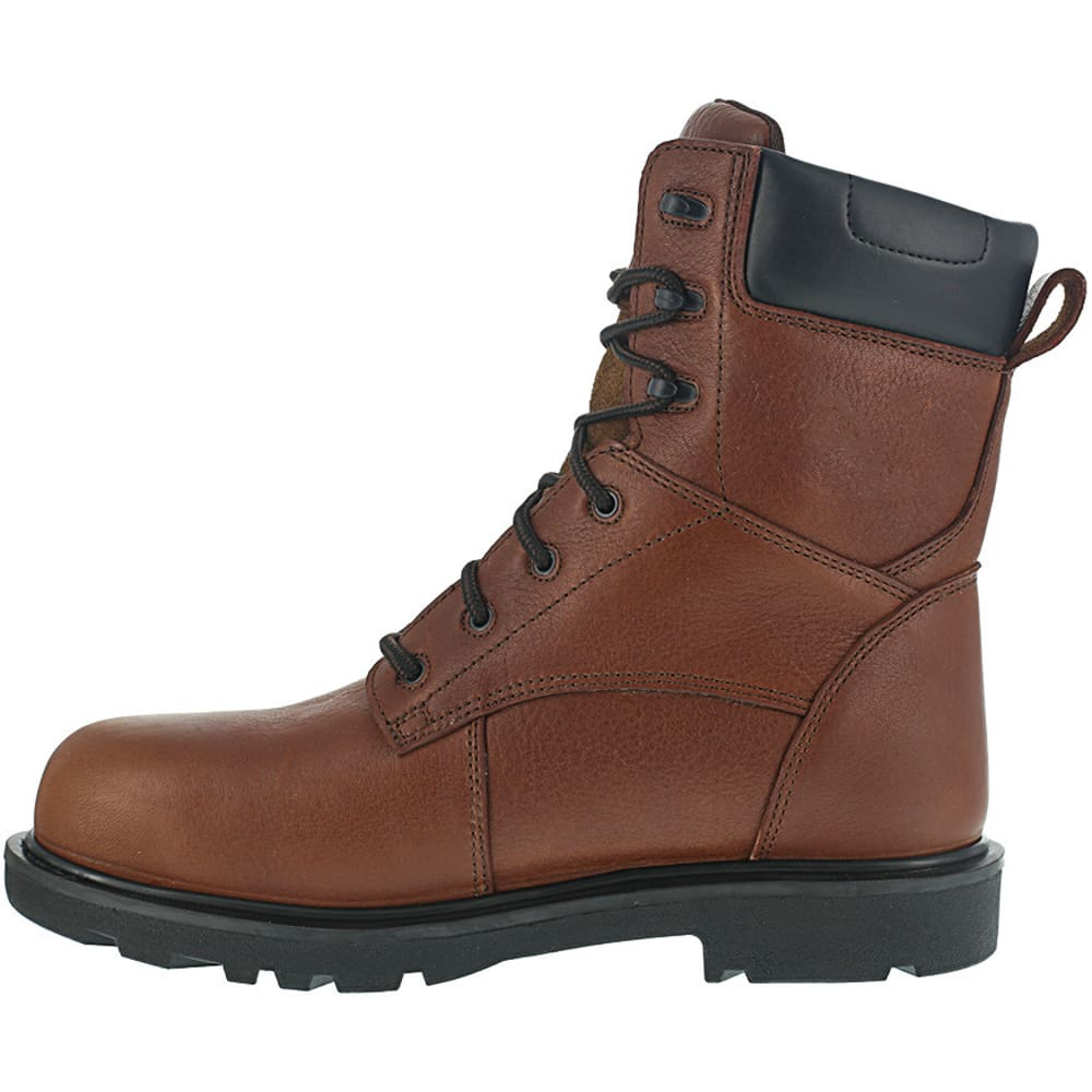 IRON AGE Men's Hauler Composite Toe 8 in. Plain Toe Waterproof Work Boots, Brown - BROWN
