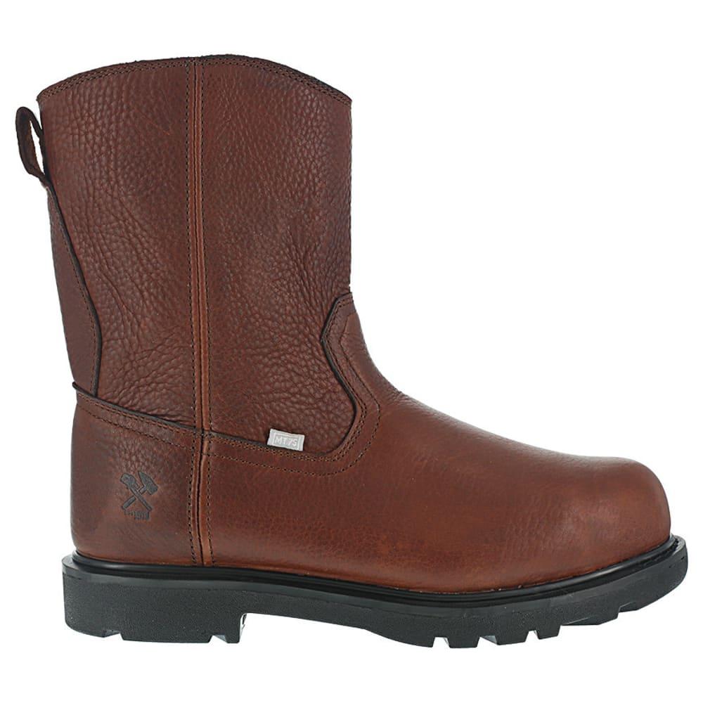 IRON AGE Men's Hauler Composite Toe 10 in. Wellington Flex-Met Boots, Brown - BROWN