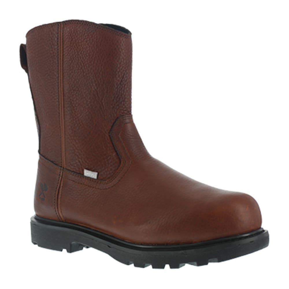 IRON AGE Men's Hauler Composite Toe 10 in. Wellington Flex-Met Boots, Brown 7.5