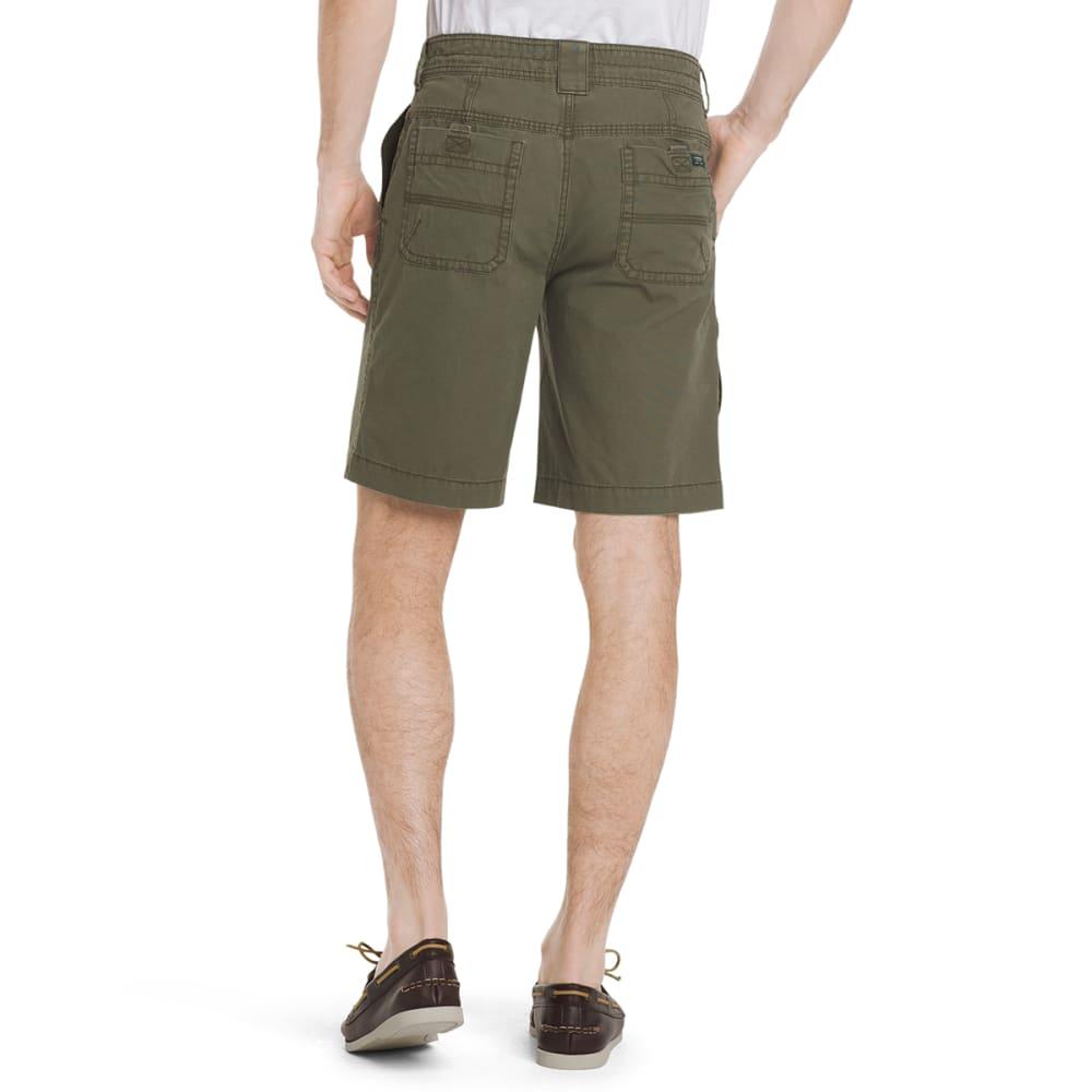 G.H. BASS & CO. Men's Canvas Terrain Shorts - OLIVE NIGHT-314