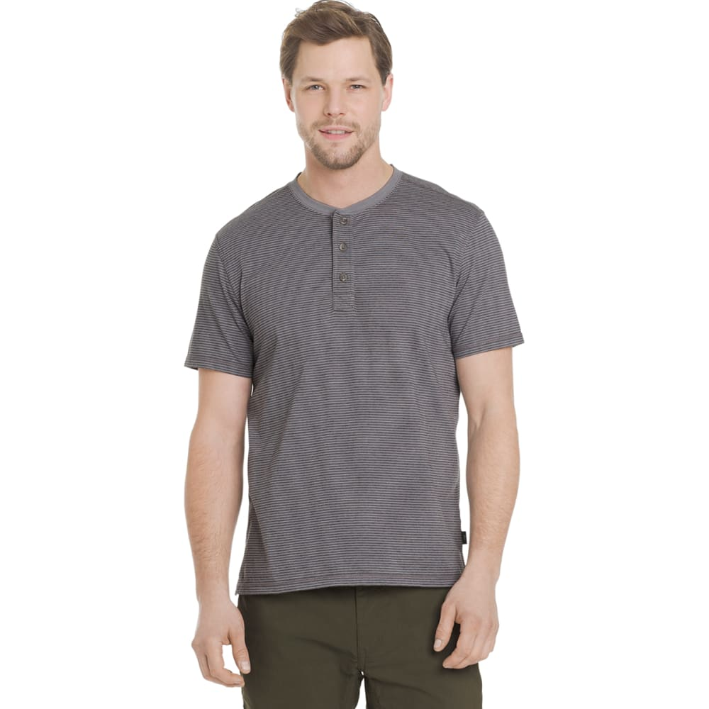 G.H. BASS & CO. Men's Short-Sleeve Jersey Henley - SILVER FILIGREE