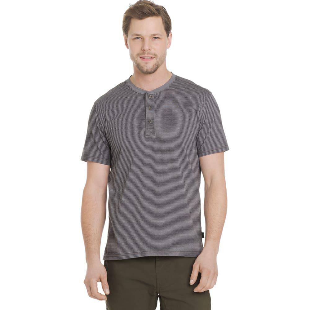 G.H. BASS & CO. Men's Short-Sleeve Jersey Henley - SILVER FILIGREE