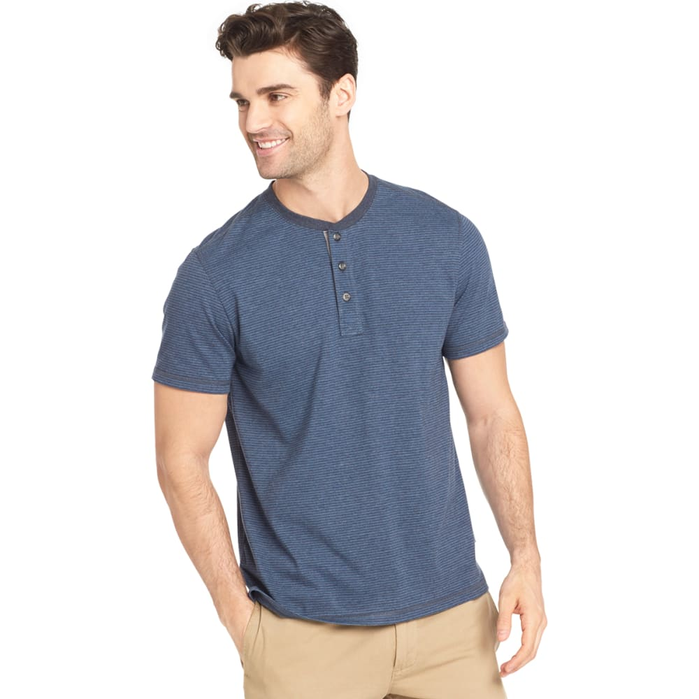 G.H. BASS & CO. Men's Short-Sleeve Jersey Henley - NAVY BLAZER