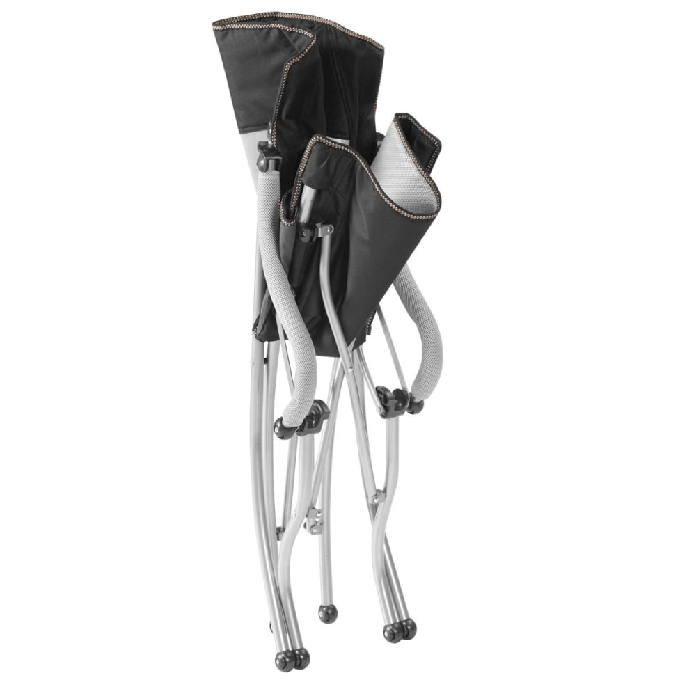 EUREKA Curvy Low Rider Camp Chair - BLACK/SILVER