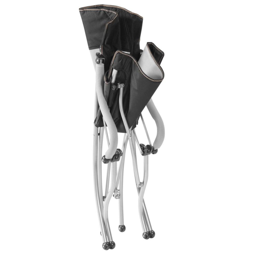EUREKA Curvy Low Rider Camp Chair - BLACK/SILVER