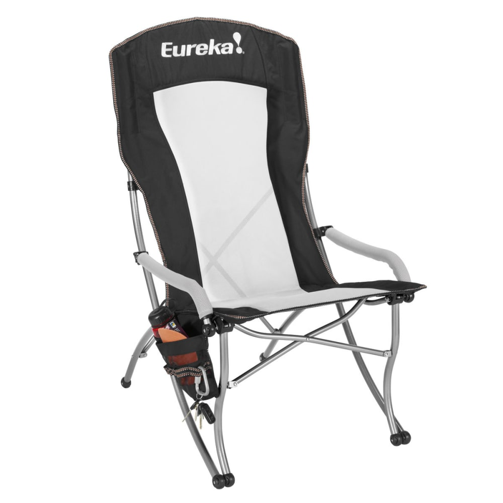 EUREKA Curvy High Back Chair - BLACK/SILVER