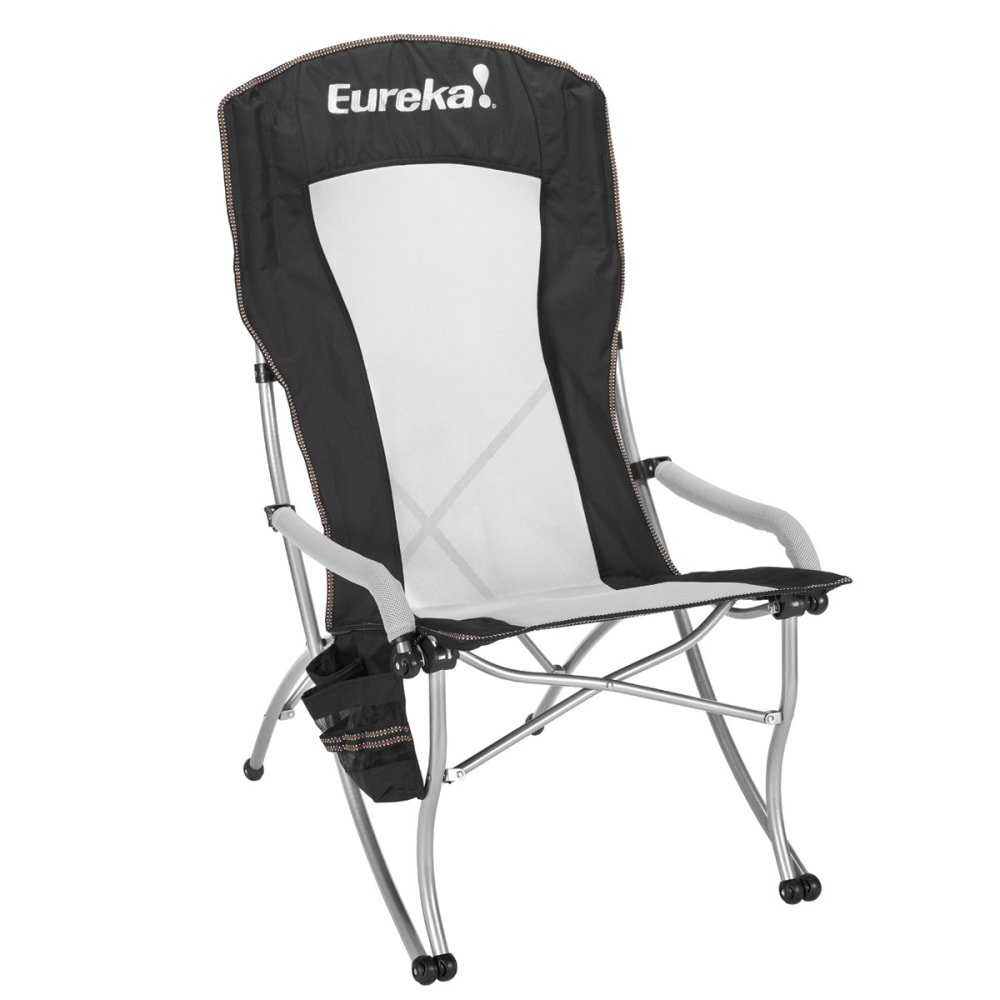 EUREKA Curvy High Back Chair - BLACK/SILVER