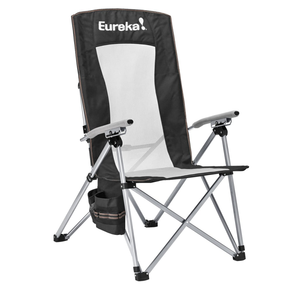 EUREKA Recliner Camp Chair - BLACK/SILVER