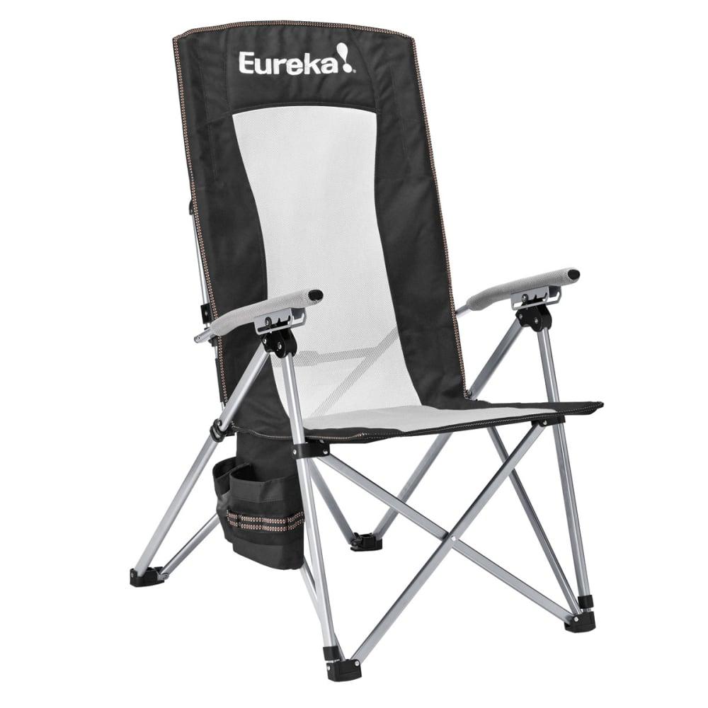 EUREKA Recliner Camp Chair - BLACK/SILVER